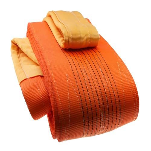 Dây cáp bẹ cẩu hàng 10,12 tấn màu cam bản dẹp 300mm 2 đầu mắt