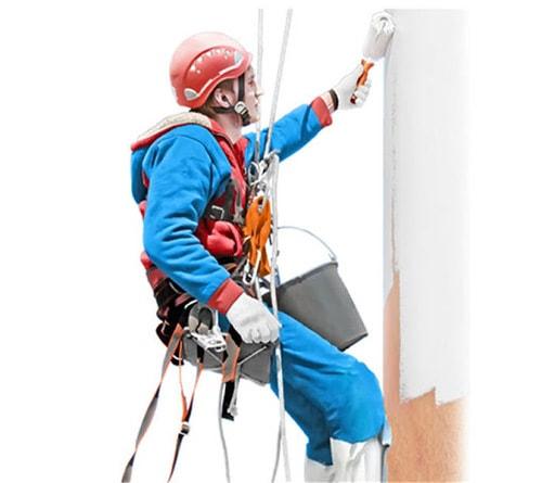 dây cứu sinh, dây đu nhà cao tầng sơn tường