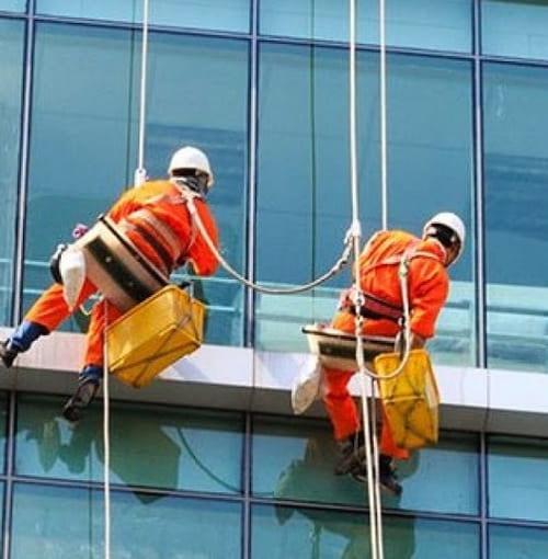 dây cứu sinh, dây đu sơn tường nhà cao tầng